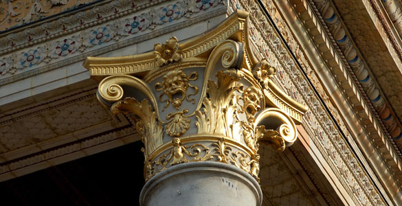 column capitals and pillars
